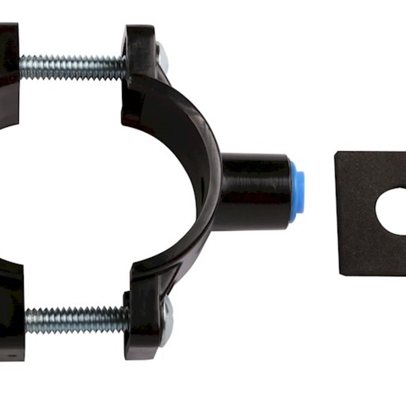 Aqua-Art Collier de serrage ABS avec écrou 1/4 ', noir
