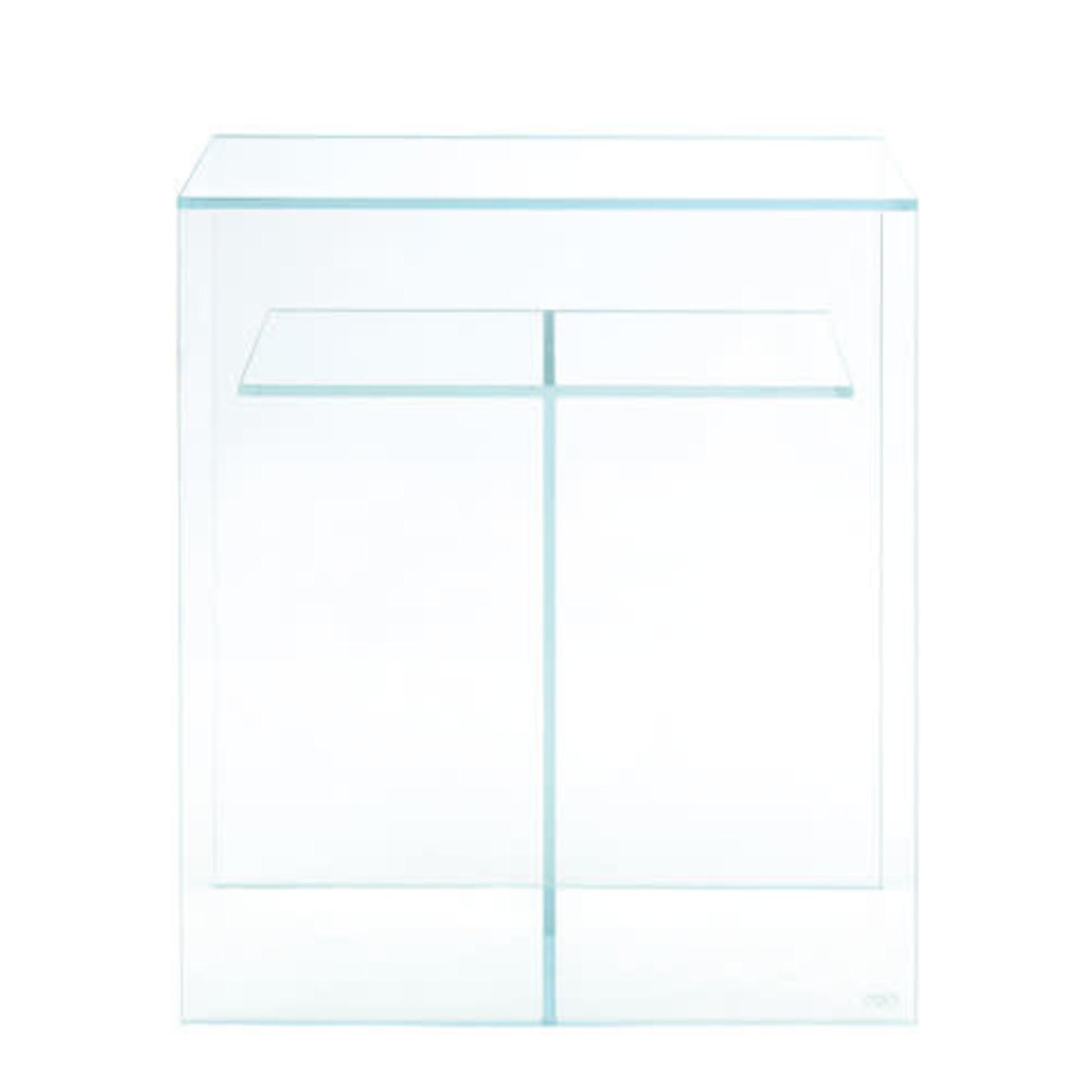 ADA Cube Cabinet Clear 60 support dédié RVB solaire, avec base en bois haut et bas