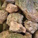 Red lava stones