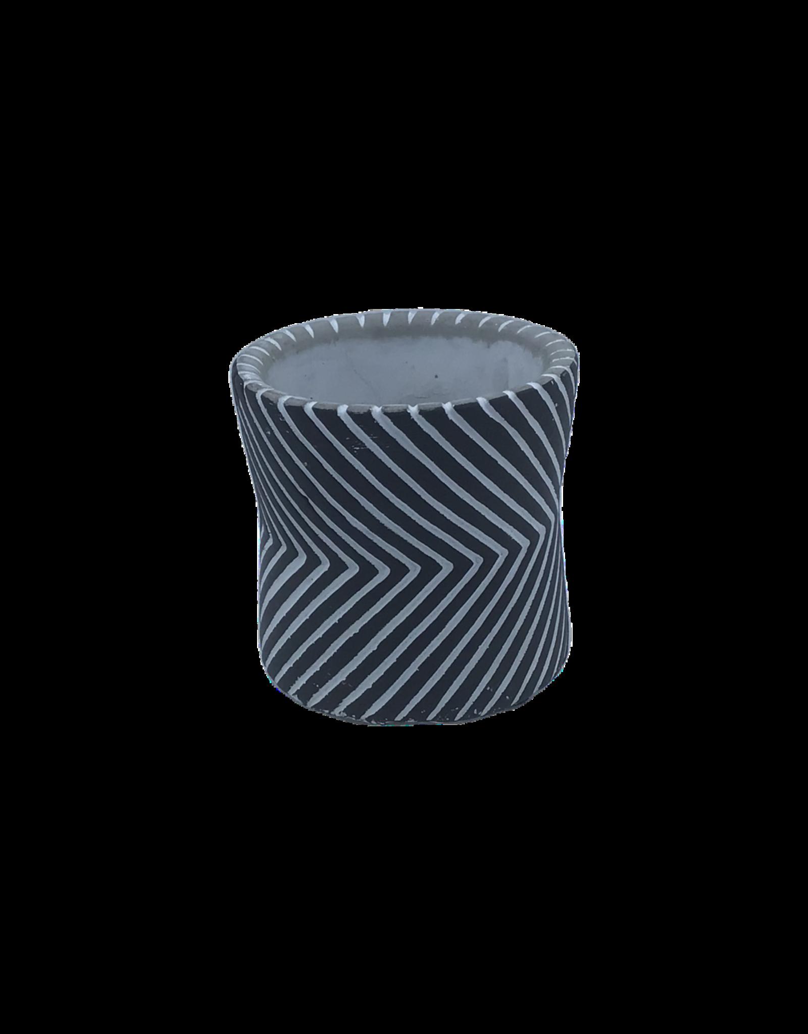 NLS Cache pot ciment 7,5x7,5h N/B