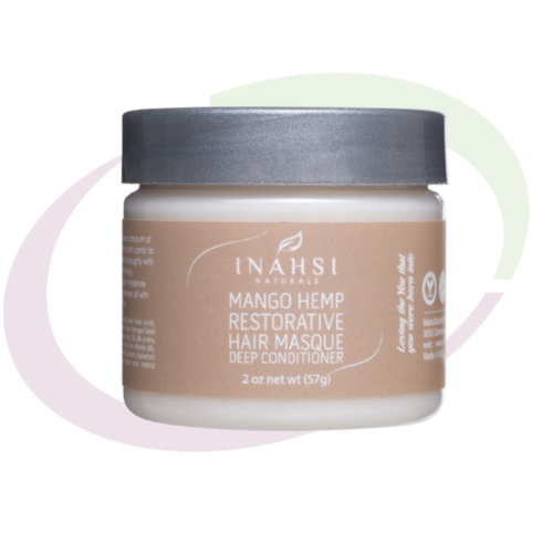 INAHSI Mango Hemp Restorative Hair Masque, 57 gr