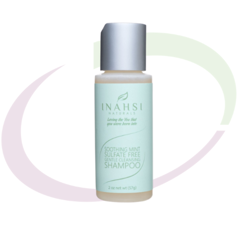 INAHSI Soothing Mint Sulfate Free Gentle Cleansing Shampoo, 59 ml