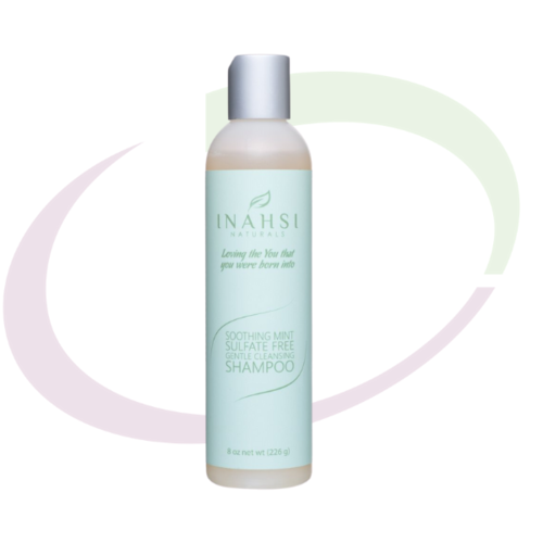 Inahsi Naturals Soothing Mint Sulfate Free Gentle Cleansing Shampoo