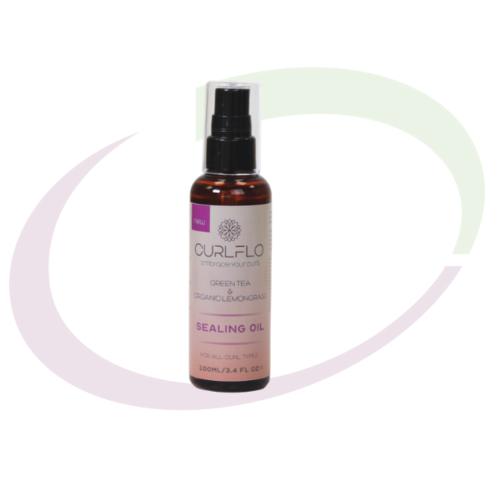 Curl Flo - Green Tea & Organic Lemongrass Sealing Oil, 100 ml