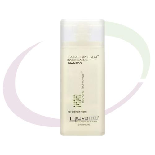 Giovanni Tea Tree Triple Treat Invigorating Shampoo, 60 ml