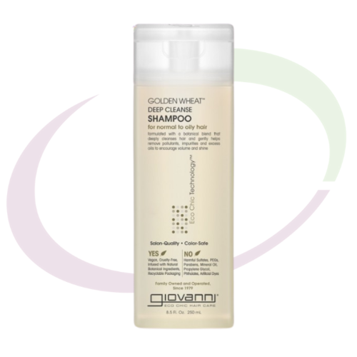 Giovanni Golden Wheat Deep Cleanse Shampoo, 250 ml