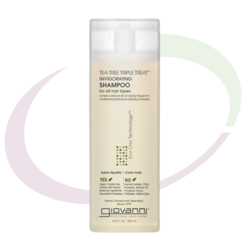 Giovanni Tea Tree Triple Treat Invigorating Shampoo, 250 ml