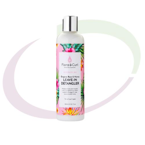 Flora & Curl Organic Rose & Honey Leave-in Detangler, 300 ml