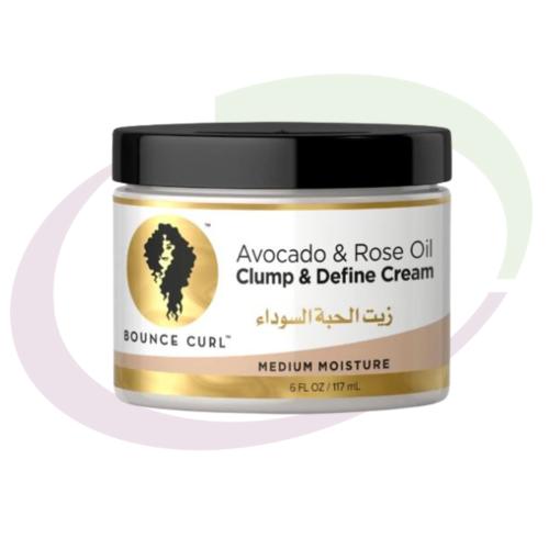 Bounce Curl, Avocado & Rose Oil Clump and Define Cream, 117 ml