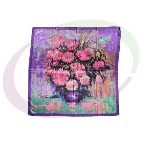 Satijnen Sjaal 90 x 90 cm - Multicolor