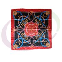 Satin Scarf 90 x 90 cm, Multicolor