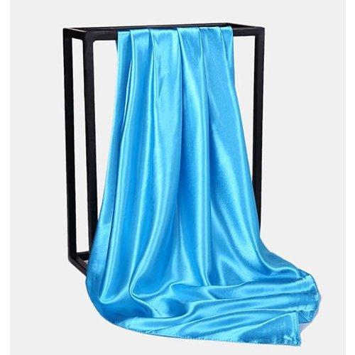 Satijnen Sjaal 90 x 90 cm, plain colors