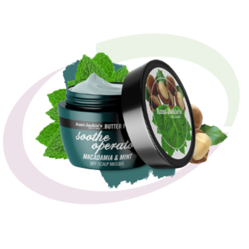 Aunt Jackie's SOOTH OPERATOR - Macadamia & Mint Dry Scalp Conditioning Masque