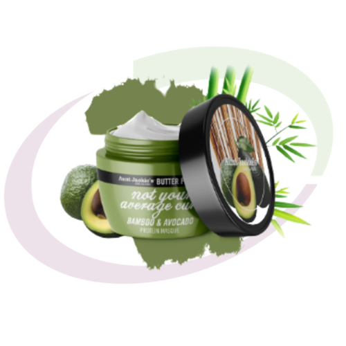 Aunt Jackie's NOT YOUR AVERAGE CURL - Bamboo & Avocado Protein Masque, 237 ml