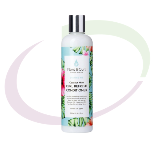 Flora & Curl Coconut Mint Curl Refresh Conditioner, 300 ml