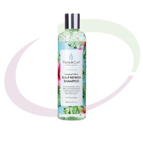 Flora & Curl Coconut Mint Scalp Refresh Shampoo, 300  ml