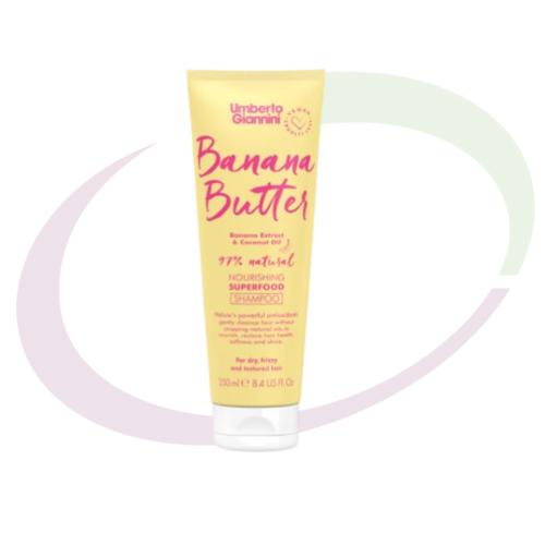 Umberto Giannini,Banana Butter Nourishing Superfood Shampoo, 250 ml