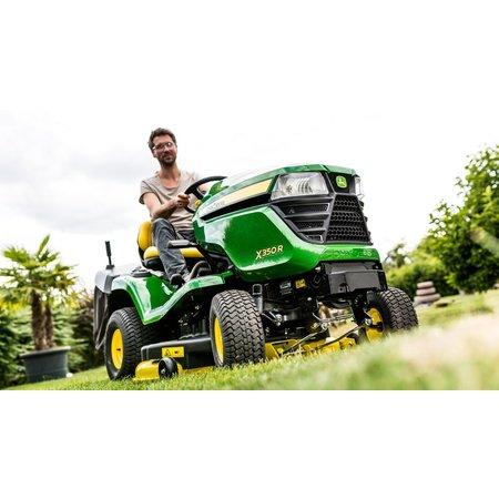 John Deere X354 Benzine Zitmaaier met mulch maaidek (107cm)