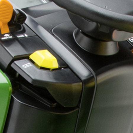 John Deere X370 Benzine Zitmaaier met mulchmaaidek (107cm)