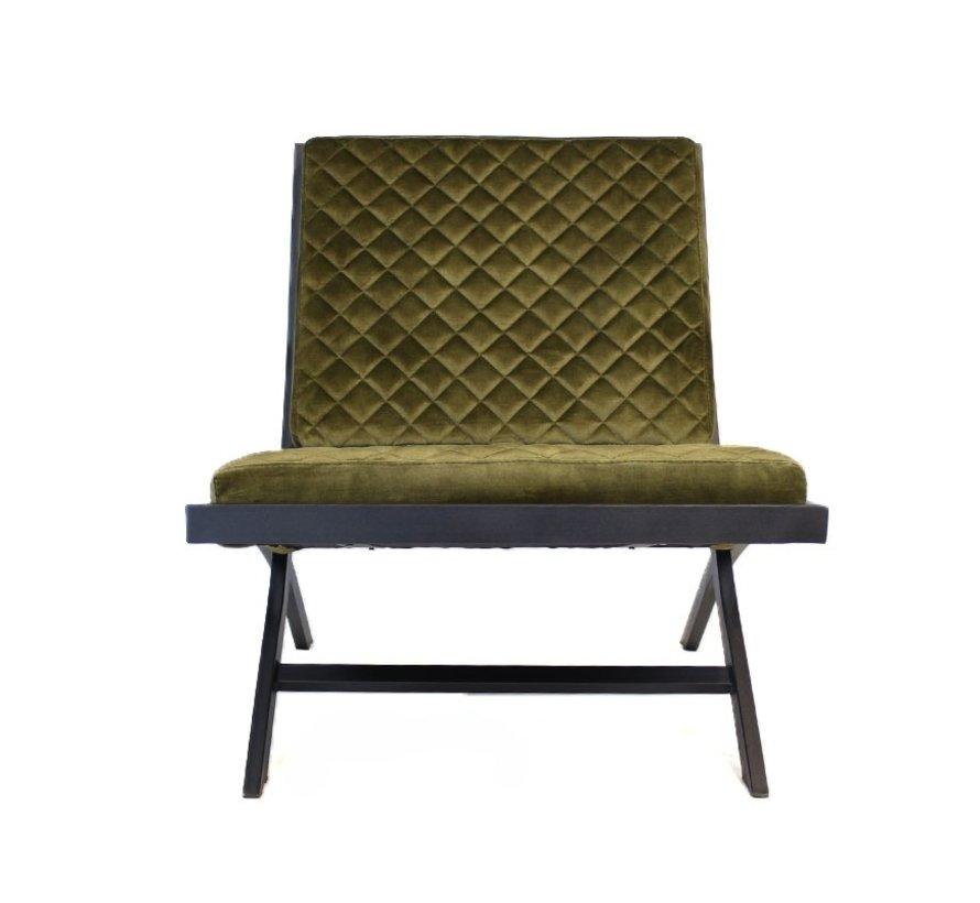 Samt Sessel Madrid Luxury Design grün
