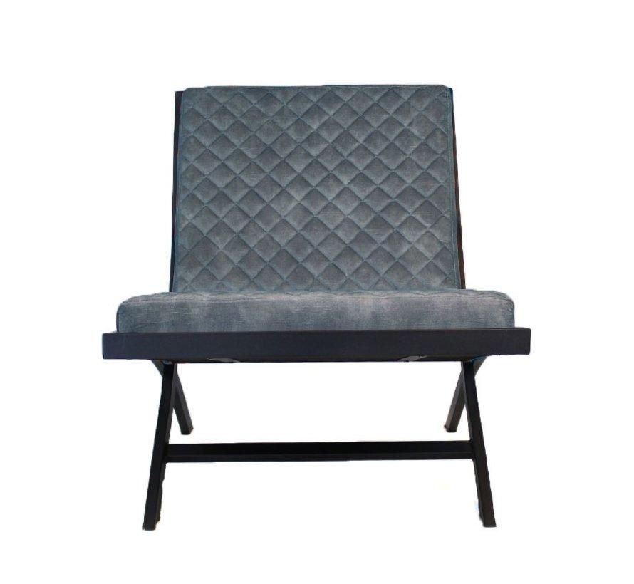 Samt Sessel Madrid Luxury Design blau