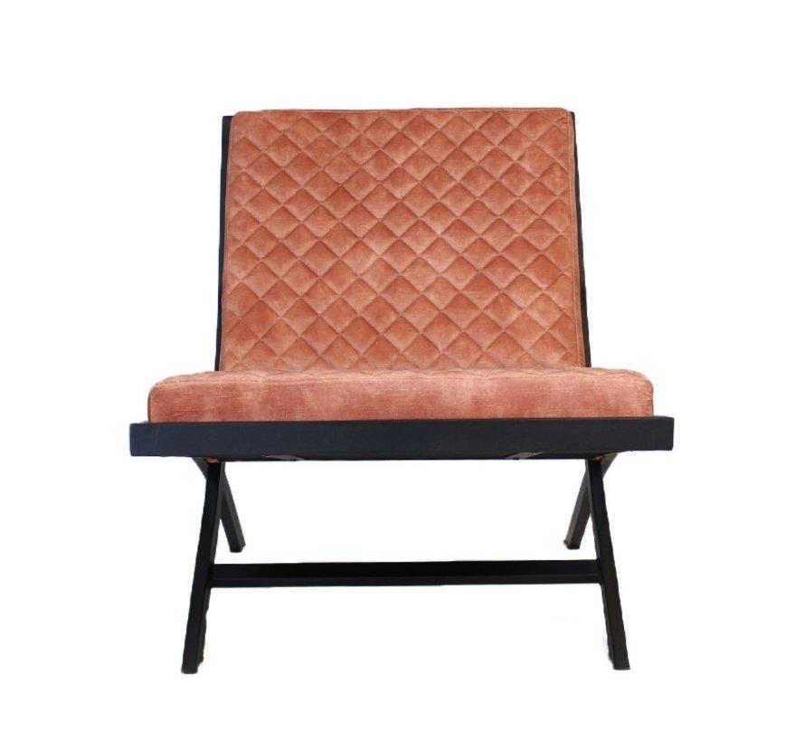 Samt Sessel Madrid Luxury Design rosé