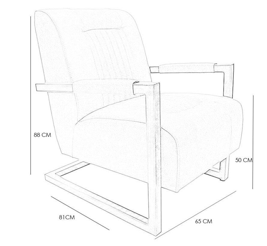 Sessel Microfaser Austin Industrial Design cognac