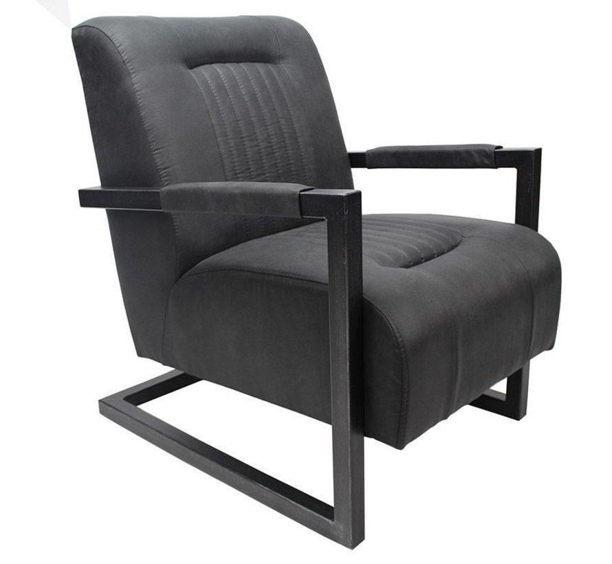 Sessel Microfaser Austin Industrial Design schwarz
