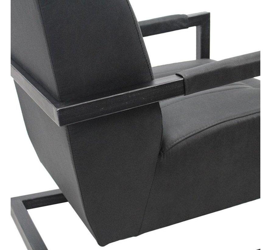 Sessel Microfaser Robert Industrial Design schwarz