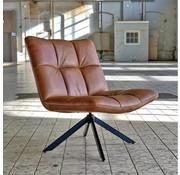 Bronx71 Ledersessel Madi drehbar Industrial Design cognac