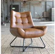 Ledersessel Joa Industrial Design cognac