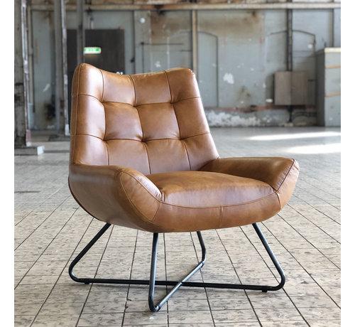 Bronx71 Ledersessel Joa Industrial Design cognac