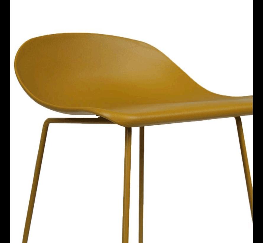 Barhocker Ellen skandinavisches Design gelb 76 cm