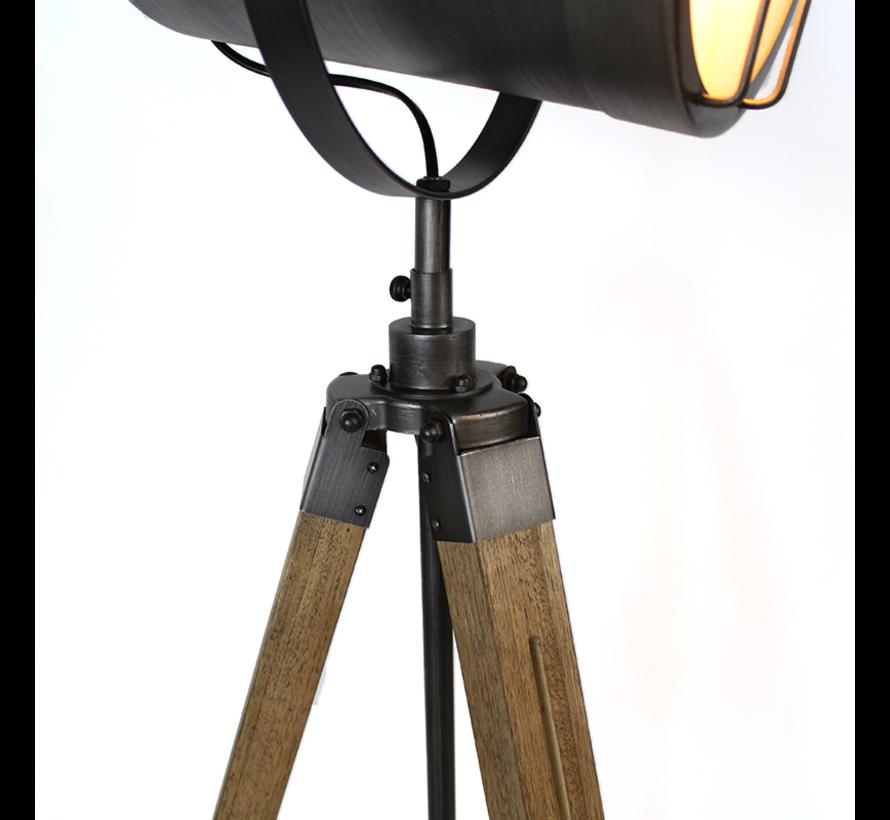Stehlampe Berlin 1-flammig Holz/Metall grau