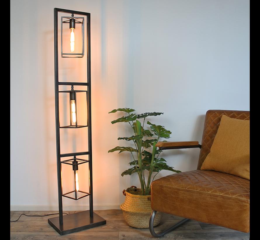 Stehlampe Capital 3-flammig Metall grau