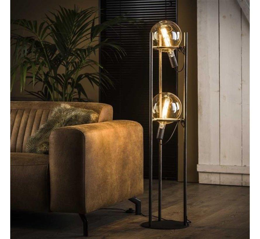 Stehlampe Jay 2-flammig altsilber