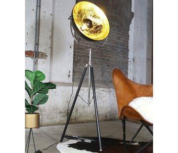 Bronx71 Stehlampe Sun City gold/schwarz Ø 52 cm