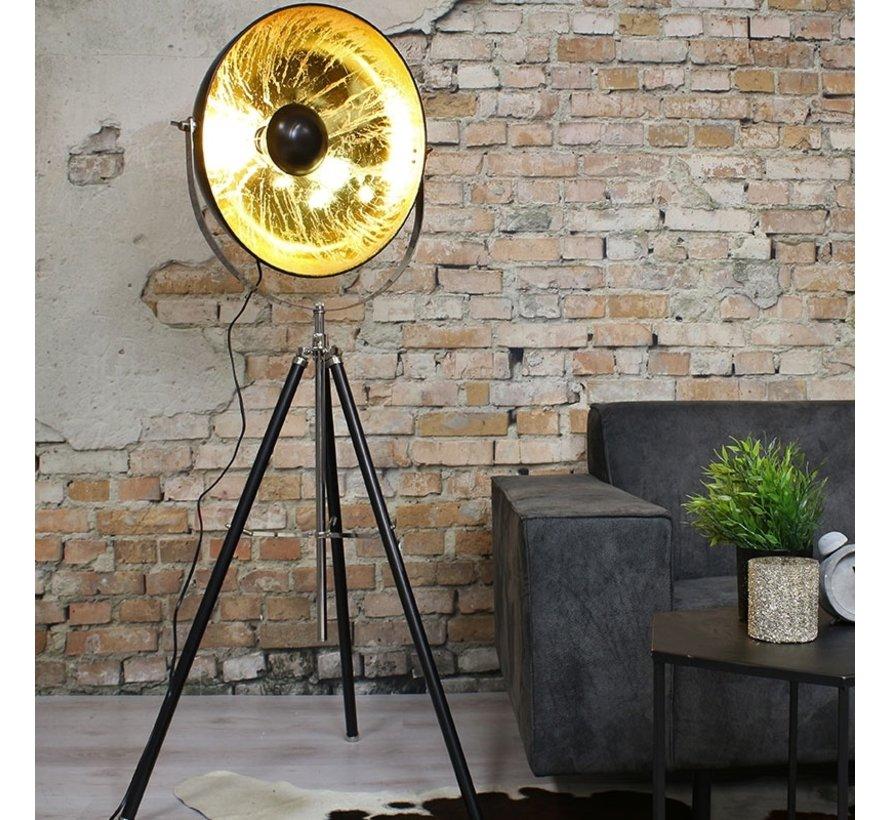 Stehlampe Sun City gold/schwarz Ø 52 cm