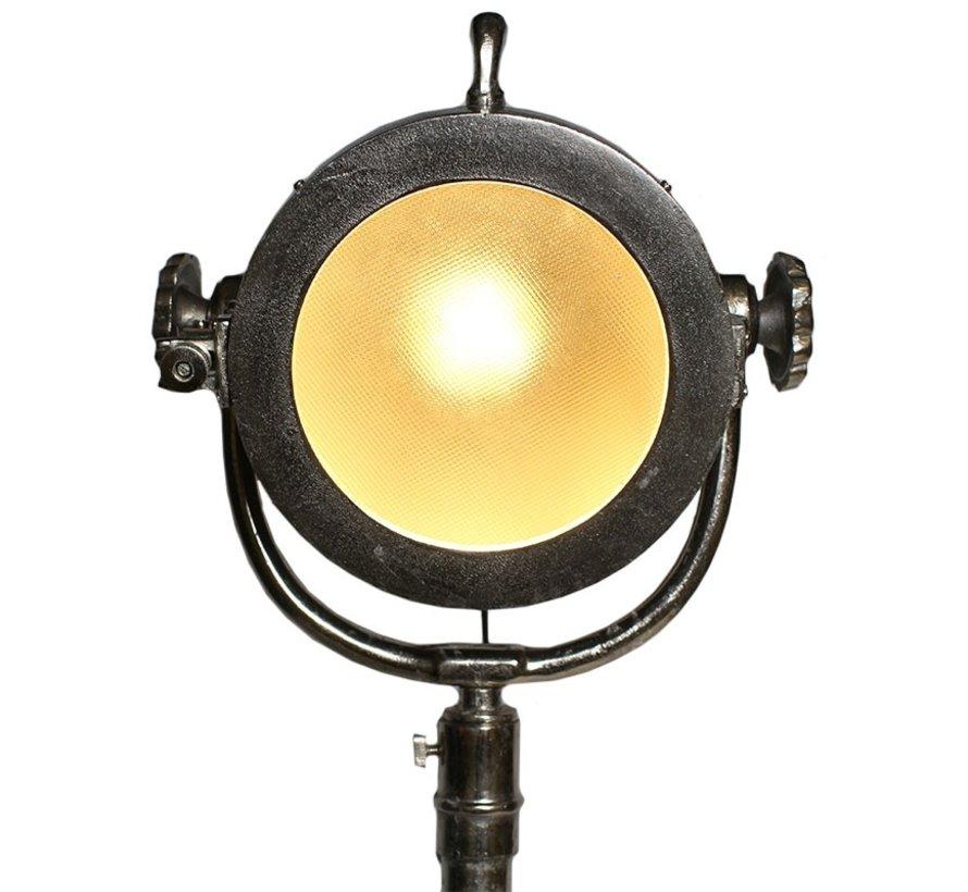 Stehlampe New York Raw Nickel Industriedesign