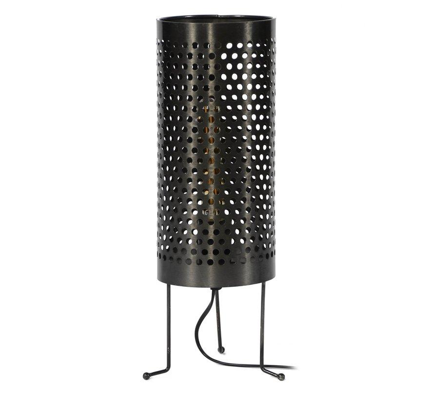 Tischlampe Merle 1-flammig Metall Zylinder