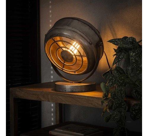 Tischlampe Lewis 1-flammig Altsilber