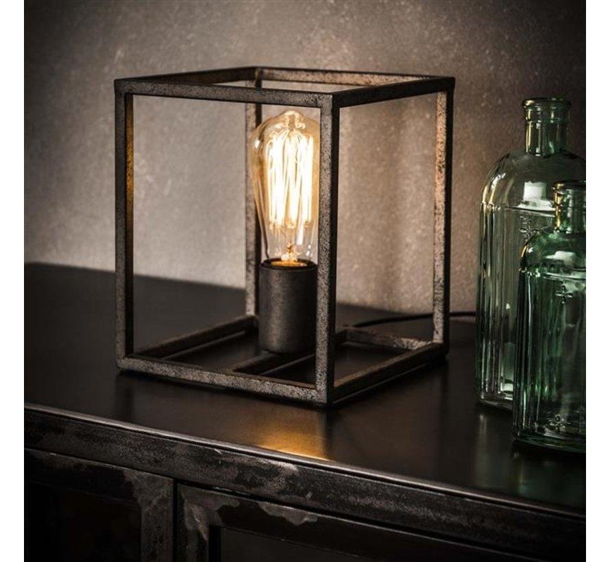 Tischlampe Santiago quadratisch silber