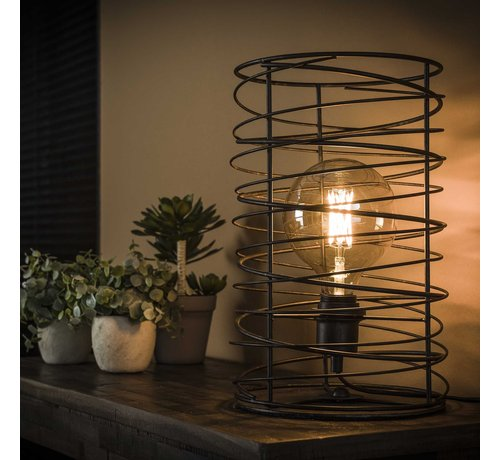 Tischlampe Shane 1-flammig charcoal