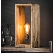 Tischlampe Caleb 1-flammig Rechteck Mangoholz