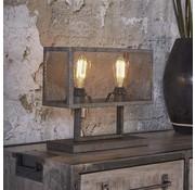 Tischlampe Rustic 2-flammig Metall