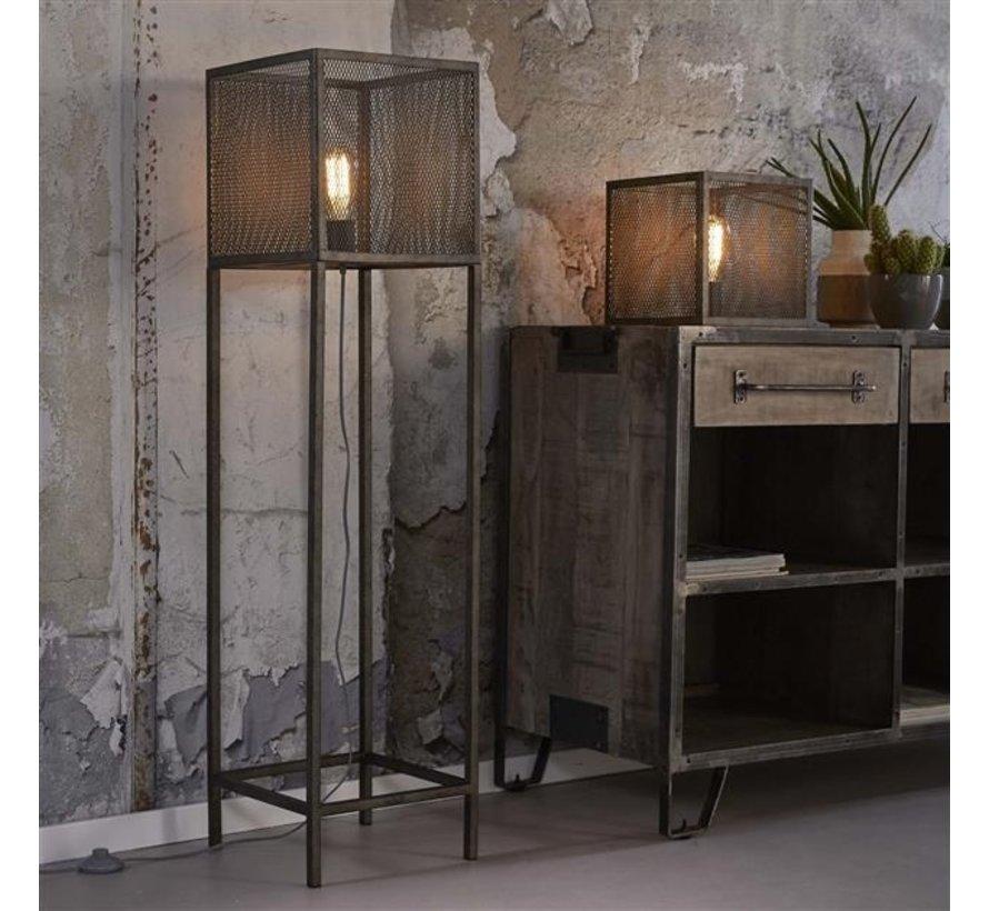 Tischlampe Rosalie altsilber Industrial Design