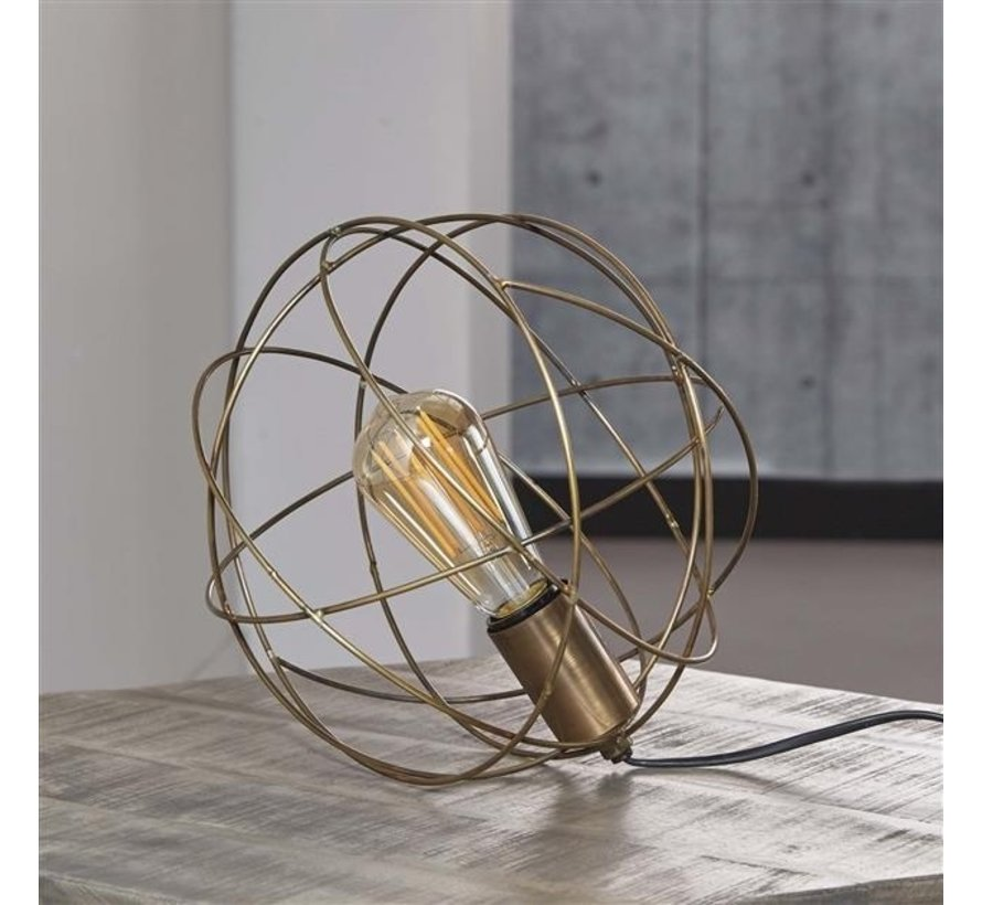 Tischlampe Elina rund bronze