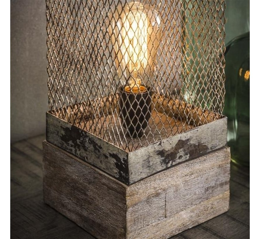 Tischlampe Knox 1-flammig Mesh