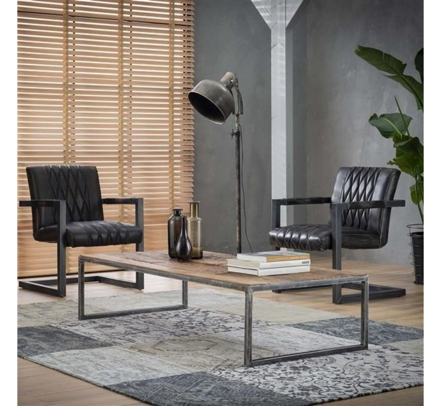 Couchtisch Louie robustes Hartholz 150 cm
