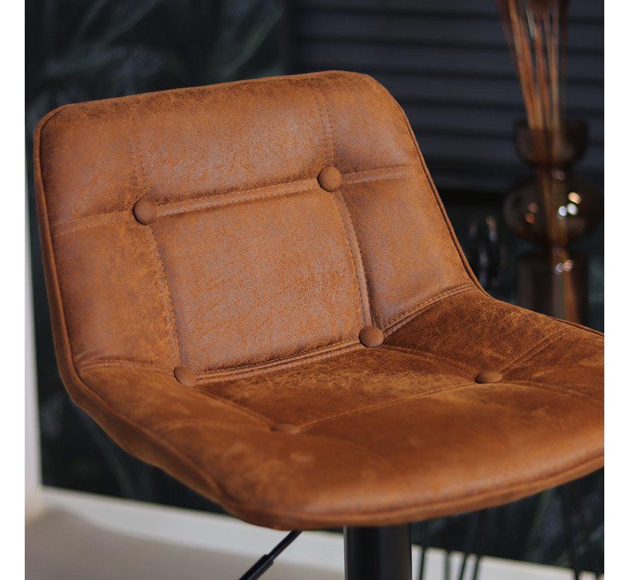 Barhocker Leder Rocky höhenverstellbar cognac 59-77 cm
